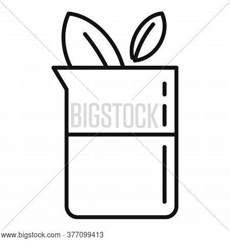 Eco Medical Liquid Flask Icon. Outline Eco Medical Liquid Flask Vector Icon For Web Design Isolated