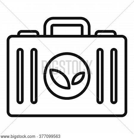 Homeopathy Case Box Icon. Outline Homeopathy Case Box Vector Icon For Web Design Isolated On White B