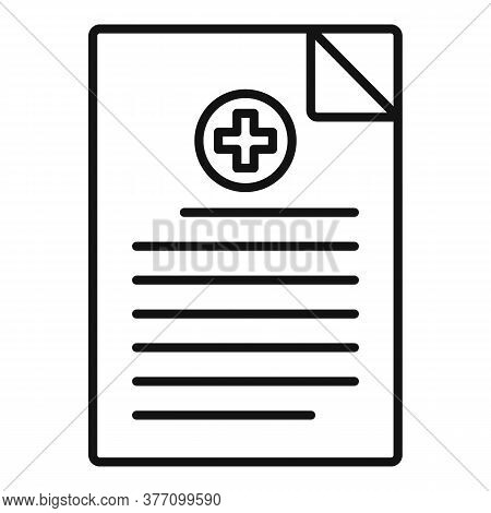 Homeopathy Medical Paper Icon. Outline Homeopathy Medical Paper Vector Icon For Web Design Isolated