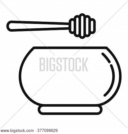 Homeopathy Honey Bowl Icon. Outline Homeopathy Honey Bowl Vector Icon For Web Design Isolated On Whi