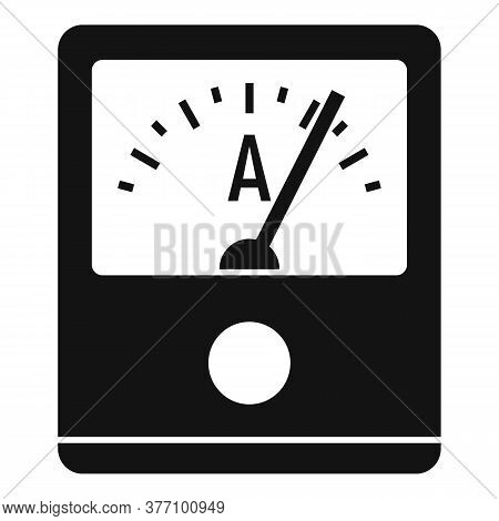 Ampere Meter Device Icon. Simple Illustration Of Ampere Meter Device Vector Icon For Web Design Isol