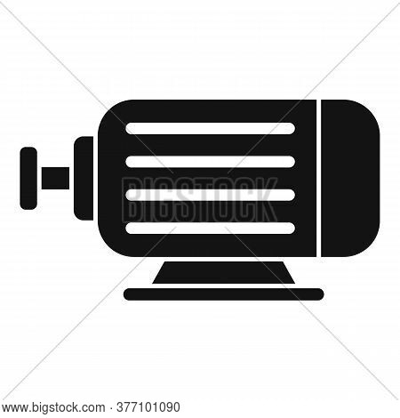 Electric Power Motor Icon. Simple Illustration Of Electric Power Motor Vector Icon For Web Design Is