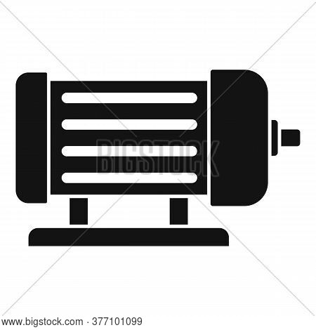 Industrial Electric Motor Icon. Simple Illustration Of Industrial Electric Motor Vector Icon For Web