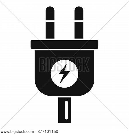 Car Electric Plug Icon. Simple Illustration Of Car Electric Plug Vector Icon For Web Design Isolated