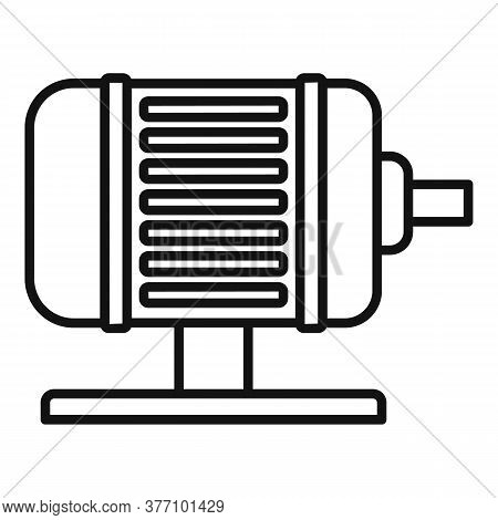 Electric Motor Icon. Outline Electric Motor Vector Icon For Web Design Isolated On White Background
