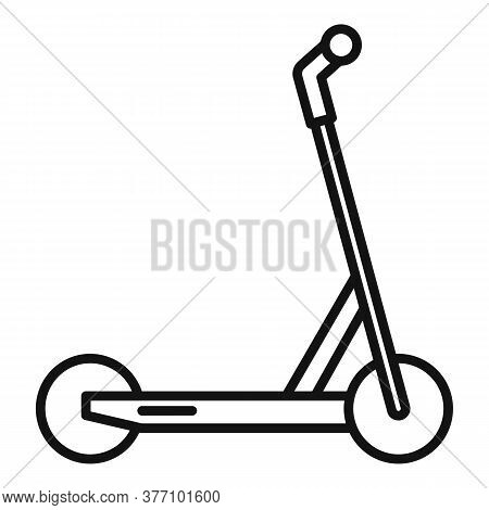 Electric Modern Scooter Icon. Outline Electric Modern Scooter Vector Icon For Web Design Isolated On