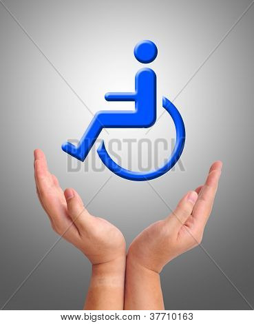 Conceptual Image, Care For Handicapped Person.