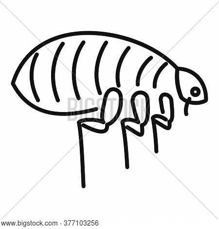 Parasite Bug Icon. Outline Parasite Bug Vector Icon For Web Design Isolated On White Background
