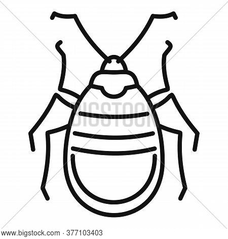 Bug Insect Icon. Outline Bug Insect Vector Icon For Web Design Isolated On White Background