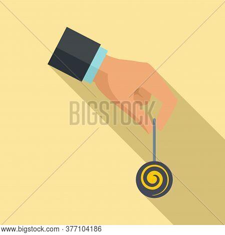 Hypnosis Pendulum Icon. Flat Illustration Of Hypnosis Pendulum Vector Icon For Web Design