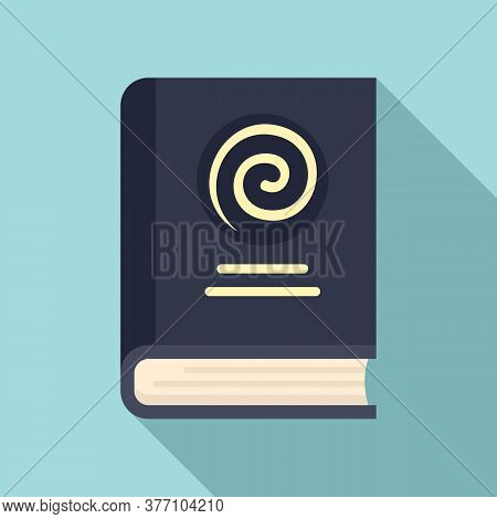 Hypnosis Book Icon. Flat Illustration Of Hypnosis Book Vector Icon For Web Design