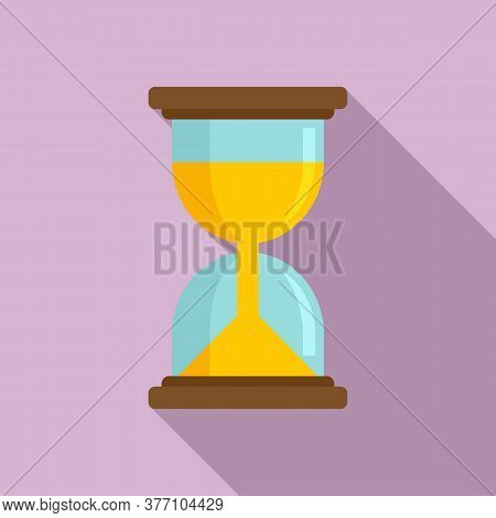 Hypnosis Hourglass Icon. Flat Illustration Of Hypnosis Hourglass Vector Icon For Web Design
