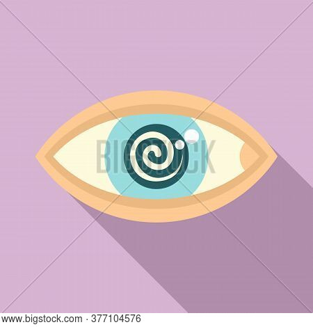 Hypnosis Eye Therapy Icon. Flat Illustration Of Hypnosis Eye Therapy Vector Icon For Web Design