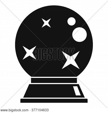 Fortune Teller Glass Ball Icon. Simple Illustration Of Fortune Teller Glass Ball Vector Icon For Web