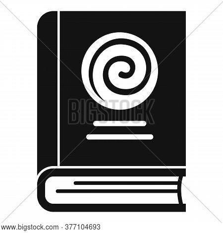 Hypnosis Book Icon. Simple Illustration Of Hypnosis Book Vector Icon For Web Design Isolated On Whit