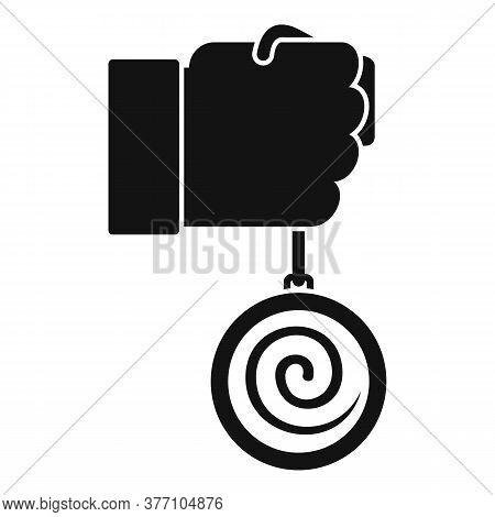 Mental Hypnosis Pendulum Icon. Simple Illustration Of Mental Hypnosis Pendulum Vector Icon For Web D