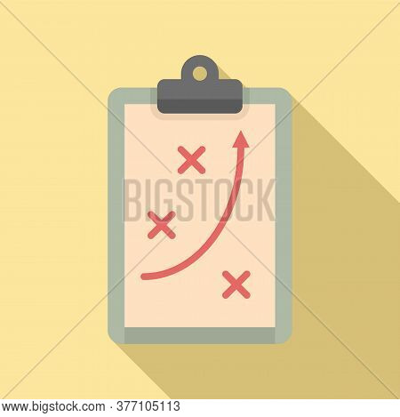 Tactical Clipboard Icon. Flat Illustration Of Tactical Clipboard Vector Icon For Web Design