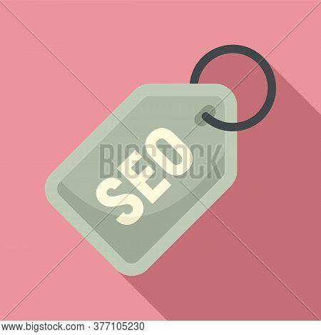 Seo Marketing Tag Icon. Flat Illustration Of Seo Marketing Tag Vector Icon For Web Design