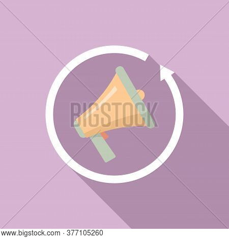 Review Marketing Megaphone Icon. Flat Illustration Of Review Marketing Megaphone Vector Icon For Web