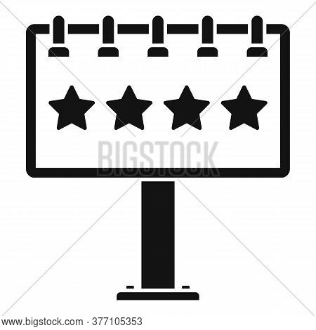 Add Billboard Icon. Simple Illustration Of Add Billboard Vector Icon For Web Design Isolated On Whit
