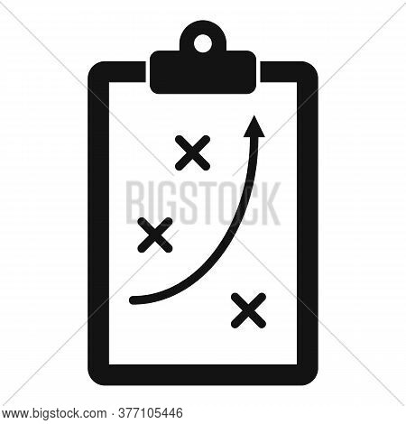 Tactical Clipboard Icon. Simple Illustration Of Tactical Clipboard Vector Icon For Web Design Isolat
