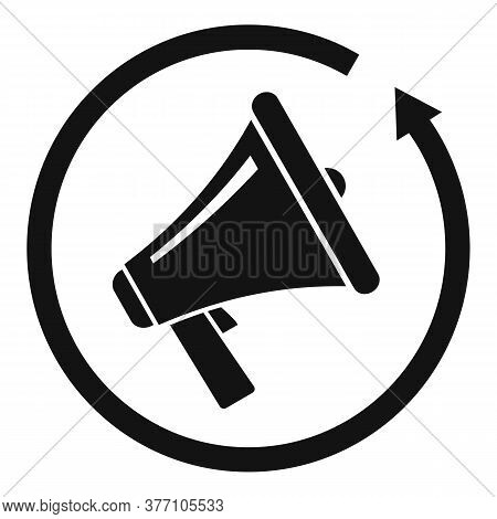 Review Marketing Megaphone Icon. Simple Illustration Of Review Marketing Megaphone Vector Icon For W