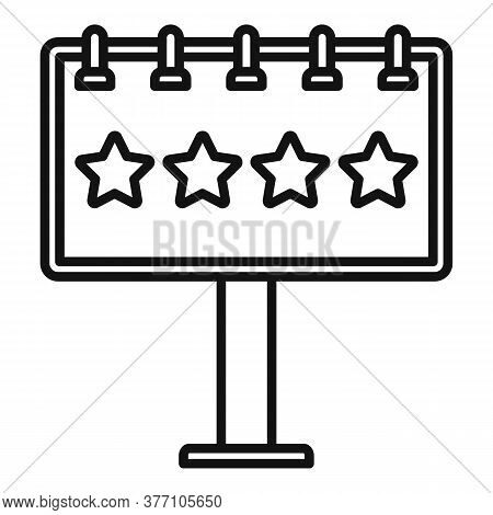 Add Billboard Icon. Outline Add Billboard Vector Icon For Web Design Isolated On White Background