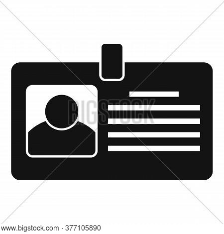 Tax Inspector Id Card Icon. Simple Illustration Of Tax Inspector Id Card Vector Icon For Web Design