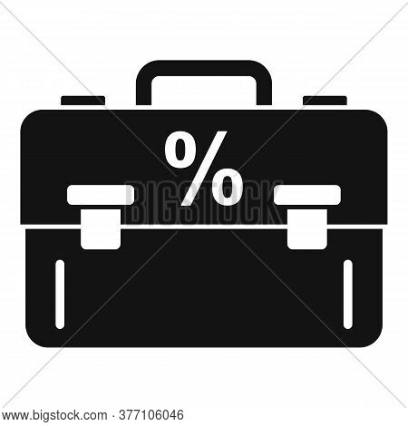 Percent Tax Case Icon. Simple Illustration Of Percent Tax Case Vector Icon For Web Design Isolated O