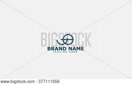 Jo Logo Design Template Vector Graphic Branding Element.
