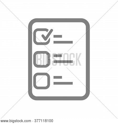 Checklist Icon Isolated On White Background. Checklist Icon In Trendy Design Style.