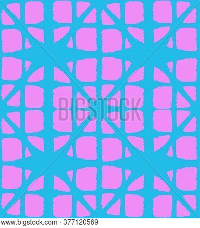 Japanese Tie Dye Seamless Pattern. Rich Vip Japanese Clothes Texture. Deco Arc Shape Print Geometric