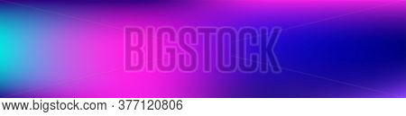 Purple, Pink, Turquoise, Blue Gradient Shiny Vector Background. Wide Horizontal Long Gradient Banner