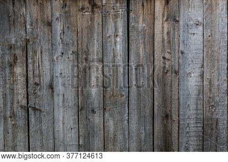 Texture Background Of Old Gray Boards Arranged Vertically
