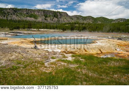 Black Opal Spring, Located In The Biscuit Basin, A Geothermal Feature Area Of Yellowstone National P
