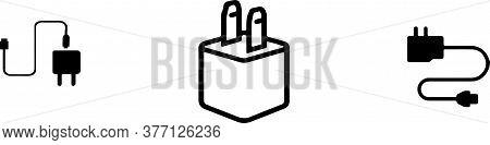 Charger Icon Isolated On White Background  Symbol, Technology, Telephone, Transmit, Usb,