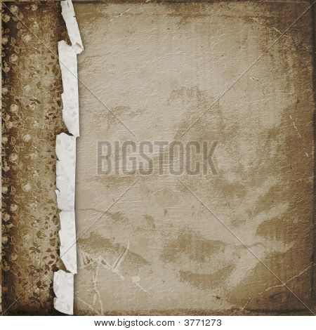 Old paper in grunge style. Cover for photo album poster