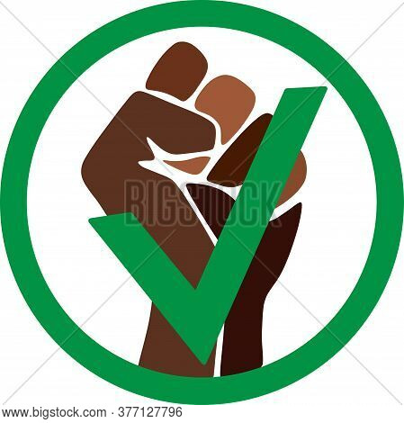 Symbol Of The Black Freedom Movement. Black Lives Matter. Movement For Freedom And Equality. Flat Ve