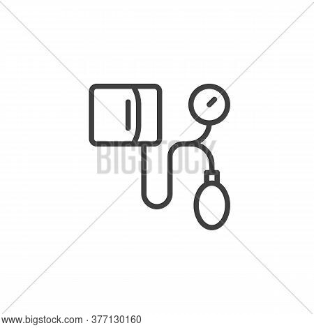 Medical Tonometer Line Icon. Linear Style Sign For Mobile Concept And Web Design. Blood Pressure Ton