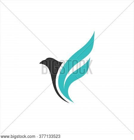 Falcon Logo Template Vector Illustration Design,isolated On A White Background