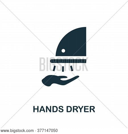 Hands Dryer Icon. Simple Element From Hygiene Collection. Creative Hands Dryer Icon For Web Design,