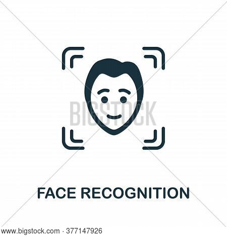 Face Recognition Icon. Simple Element From Internet Security Collection. Creative Face Recognition I