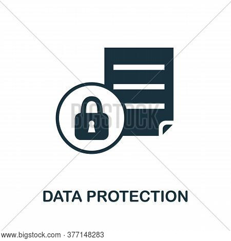 Data Protection Icon. Simple Element From Internet Security Collection. Creative Data Protection Ico