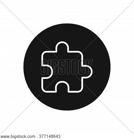 Puzzle Piece Icon Isolated On White Background. Puzzle Piece Icon In Trendy Design Style For Web Sit