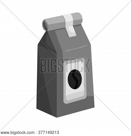 Vector Design Of Pack And Coffee Sign. Set Of Pack And Package Vector Icon For Stock.