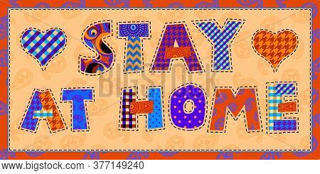 Patchwork Textile Pattern. Seamless Quilting Design Background.