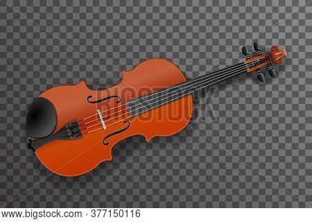 Violin Classical Music Instrument Design Vector Illustration