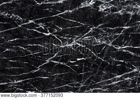 Black Marble Patterned Texture Background Expensive Stone.
