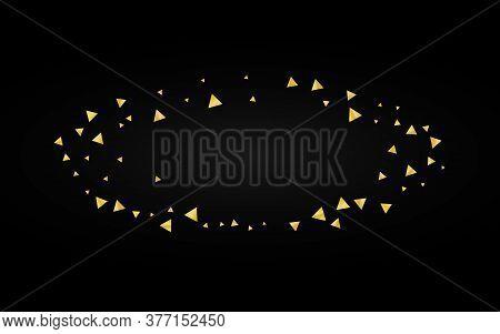 Gold Glow Bright Black Background. Holiday Shard Card. Yellow Shine Shiny Texture. Confetti Luxury B