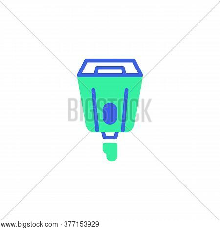 Hand Sanitizer Dispenser Icon Vector, Filled Flat Sign, Automatic Alcohol Dispenser Bicolor Pictogra